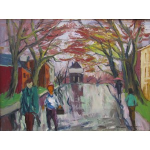HENRI L. MASSON, RCA - Rainy Day, Ottawa (1973)